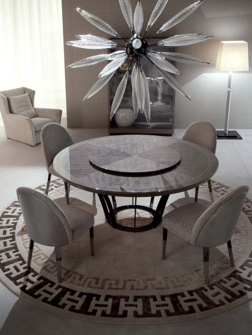 Giorgio Alchemy Round Dining Table - Kitchen table los angeles