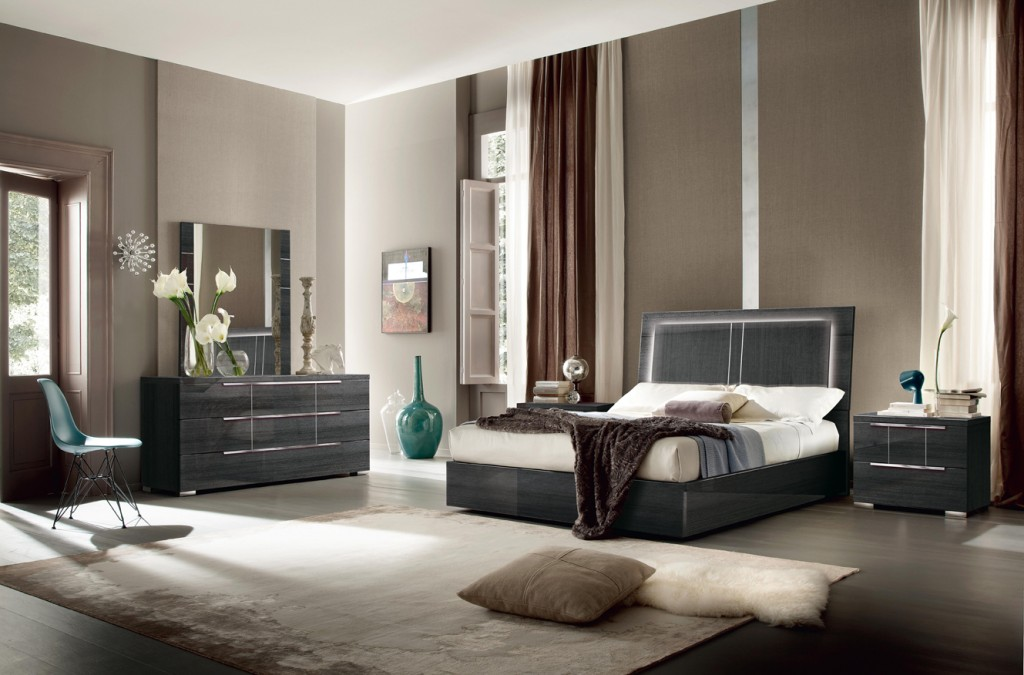 Modern italian contemporary bedroom set alf italia los for Chambre a coucher usa