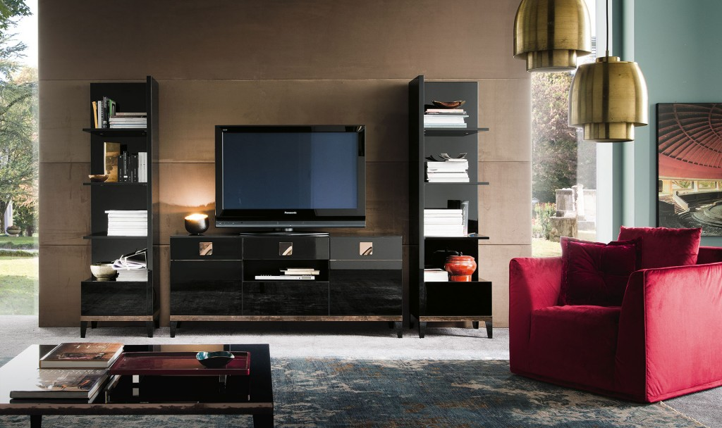 ALF Contemporary Mont Noir TV Unit