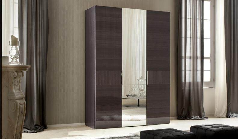 ALF Contemporary Bedroom Monte Carlo 3 Door Swinging Wardrobe