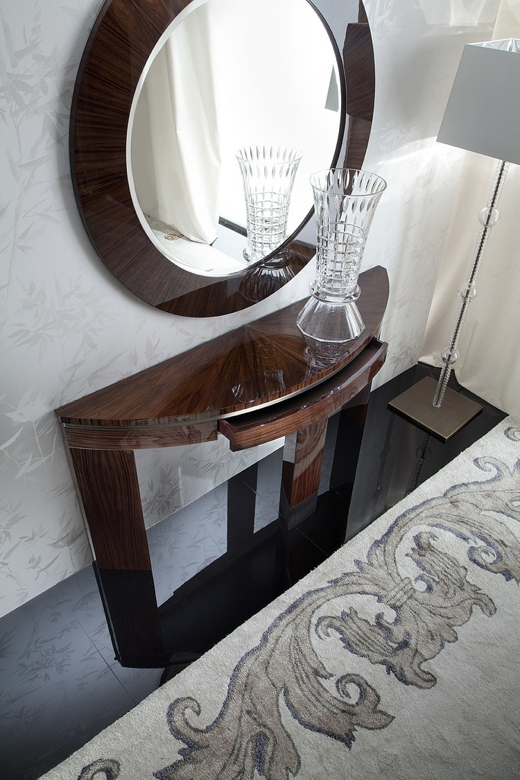 Coliseum Console Table Rosewood Top Storage Los Angeles