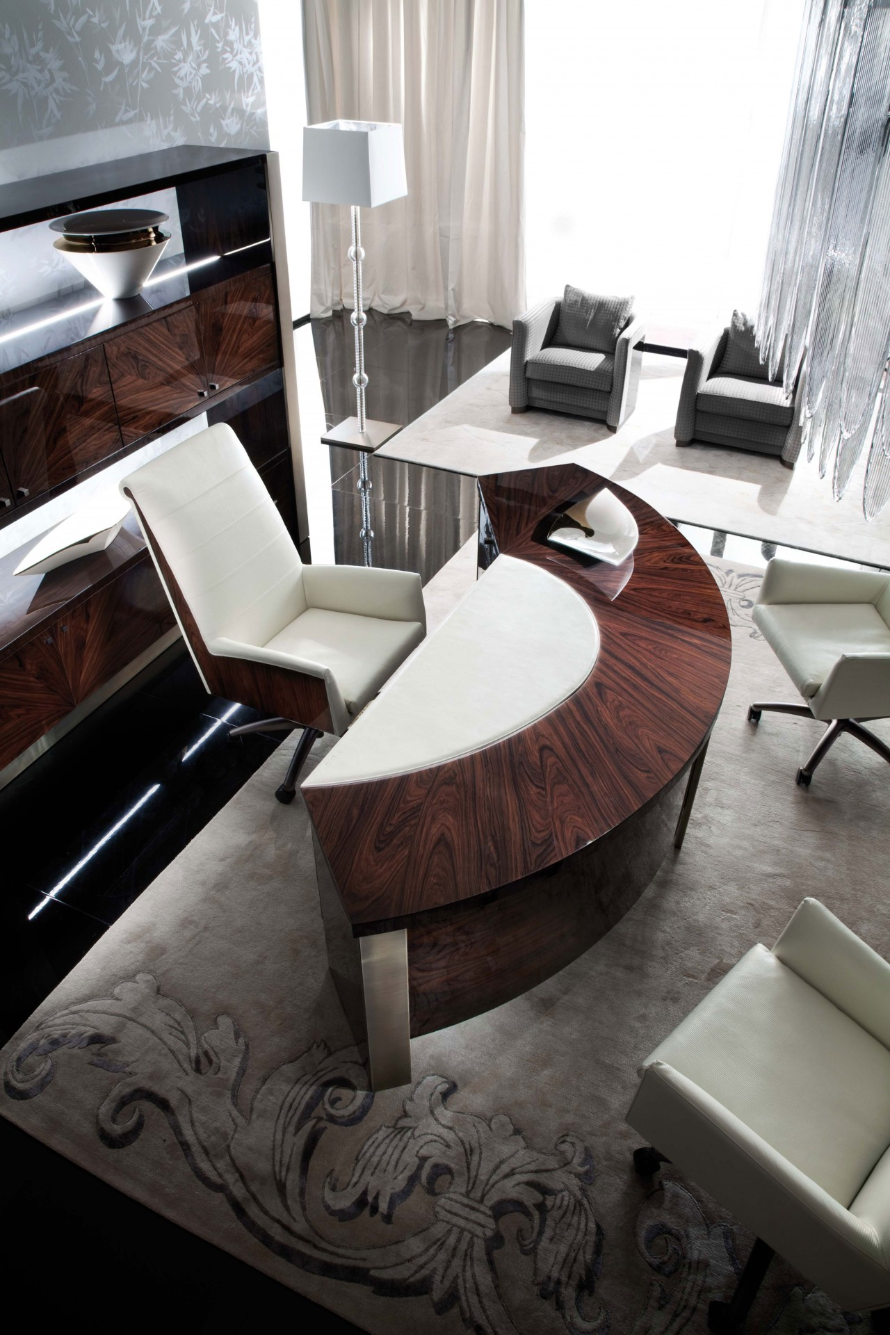 Modern luxury italian office desk giorgio coliseum los for G furniture los angeles