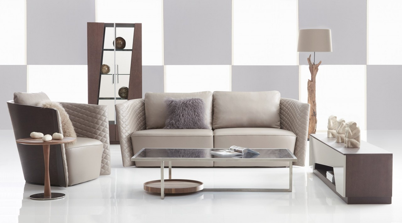 Lauren Sofa Modern Leather Los