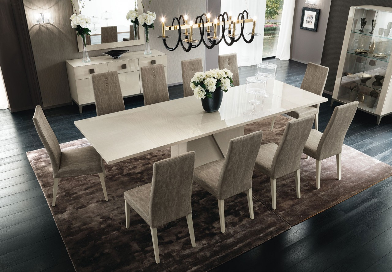 Superior ALF Contemporary Mont Blanc Dining Table