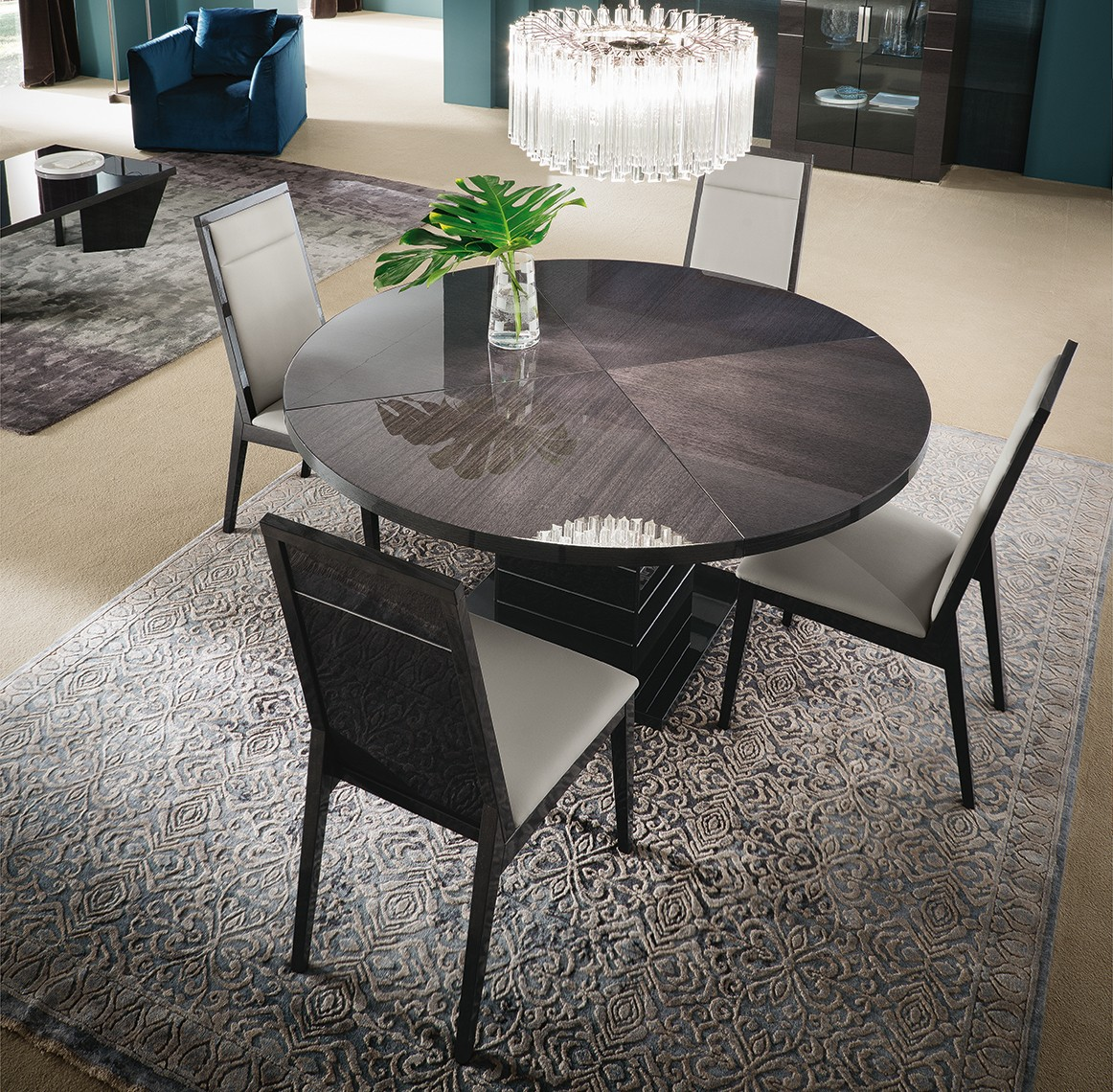 Contemporary Round Dining Table Versilia Contemporary Round Dining Table