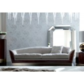 Giorgio Coliseum Sofa with Roosewood Accents