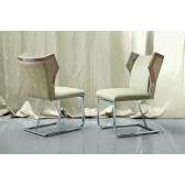 Giorgio Sunrise Dining Side Chair 3040 with chrome base