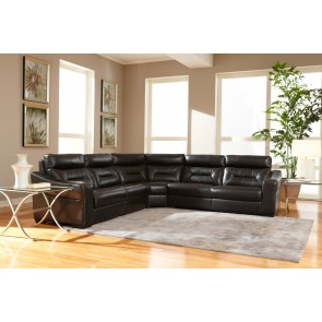 9423 Leather Sectional