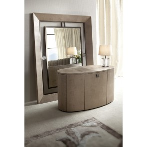 modern bedroom oval vanity los angeles