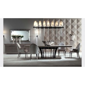 Modern Italian Oval Dining Table Los Angeles