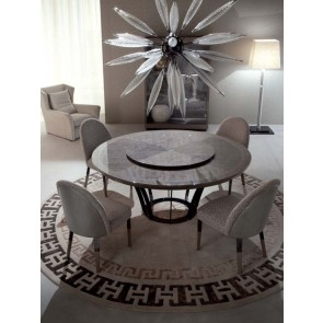 giorgio alchemy italian furniture round dining table los angeles