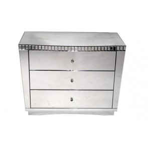 HER Mirrored Nightstand 3 Drawer