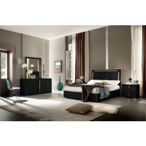 ALF Versilia Matte Black Bedroom