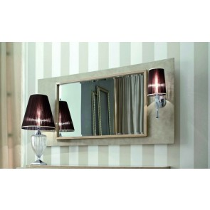 Giorgio Sunrise Leather Mirror with Light 370