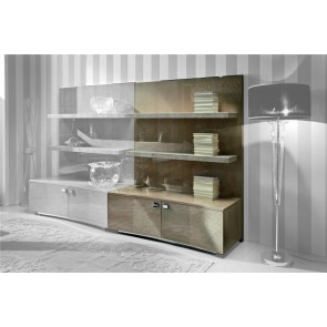 Giorgio Sunrise Plasma TV Unit with Leather shelves. W/ or W/out doors 300-50 / 300-40