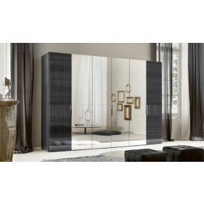 ALF Contemporary Bedroom Monte Carlo 6 Door Swinging Wardrobe