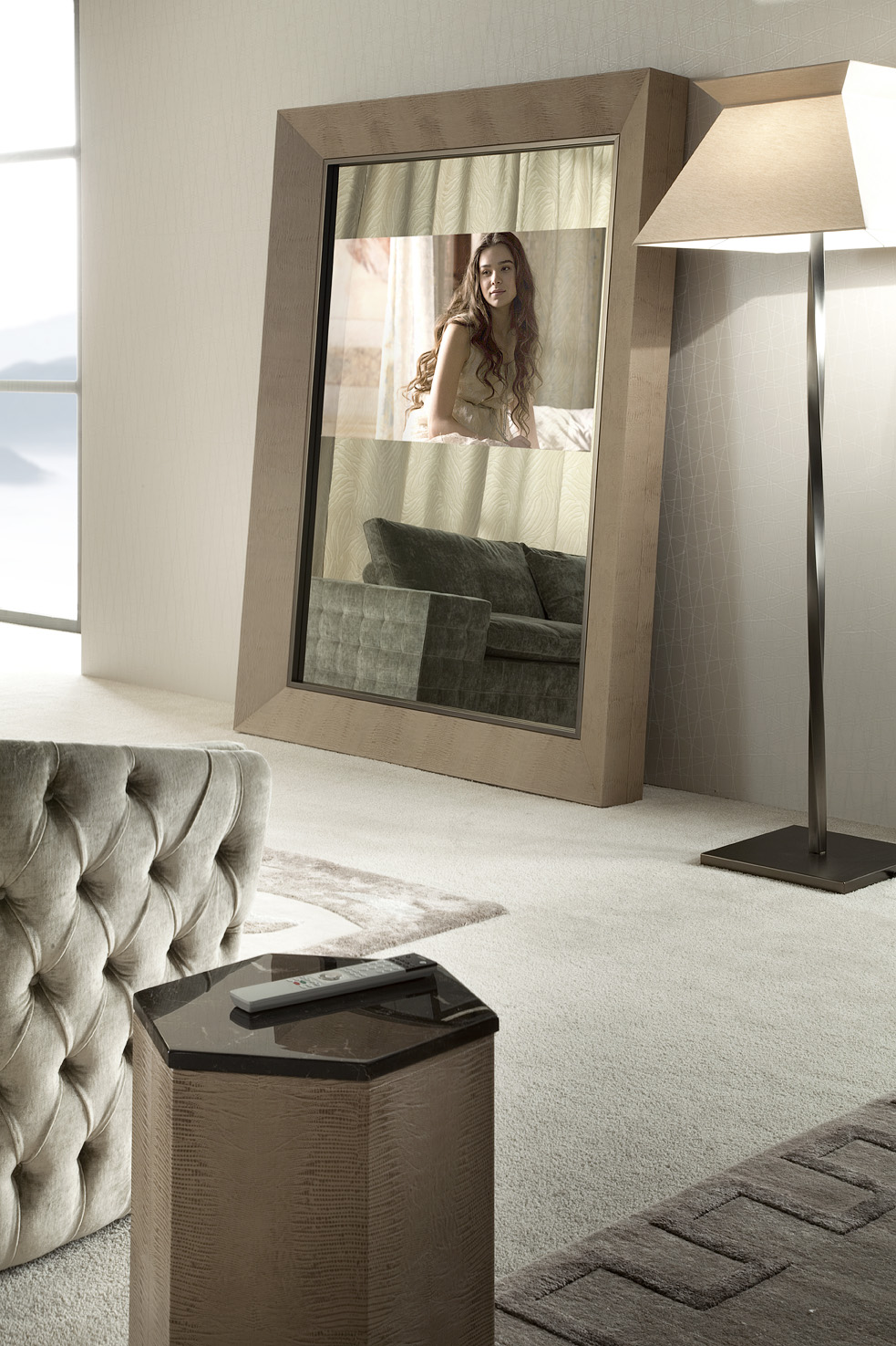 lifetime floor mirror with tv